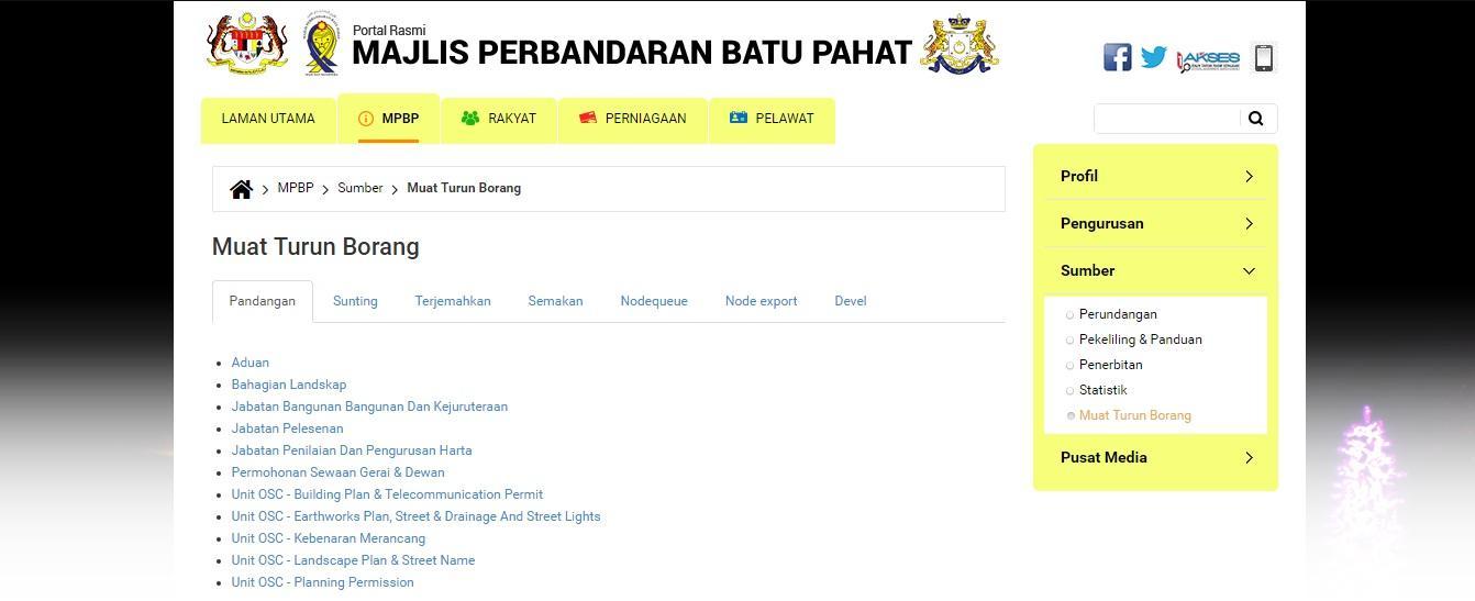 e-Services | Official Portal of Batu Pahat Municipal Council (MPBP)