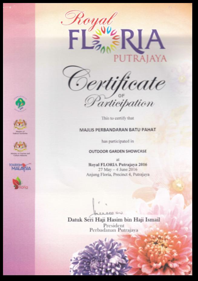 Penyertaan Festival Floria Di Putrajaya